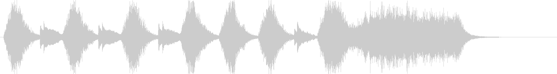 変則的な音階の弾みのあるピアノ音の未再生の波形