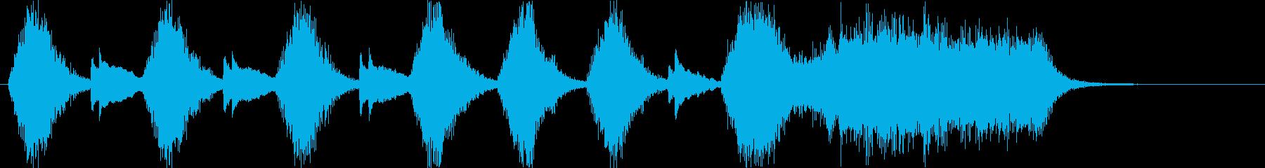 変則的な音階の弾みのあるピアノ音の再生済みの波形