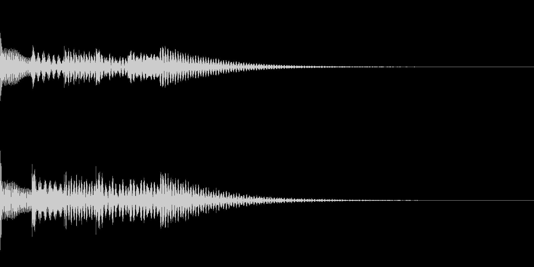 アイテム入手音1【ポロロポロロン】の未再生の波形
