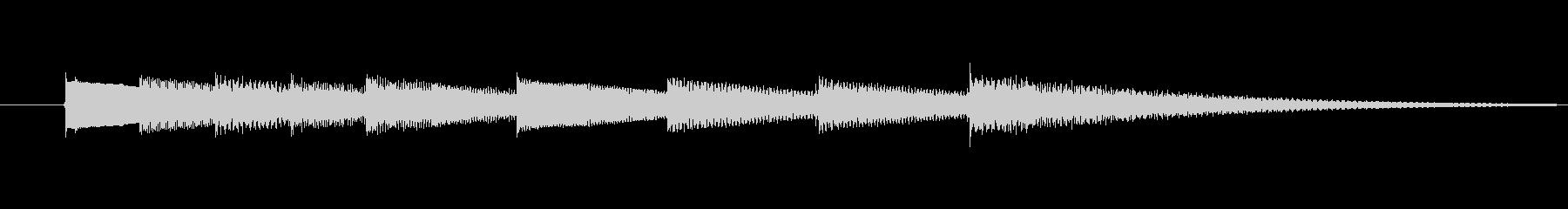 キラキラ輝きのあるベル音の3秒サウンドの未再生の波形