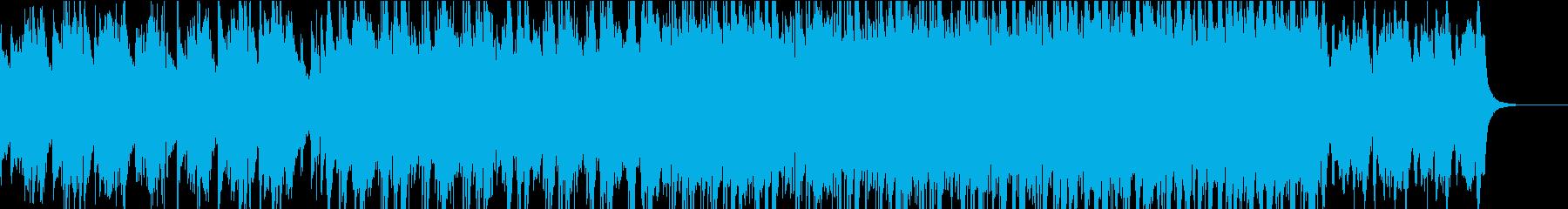 ストレートで爽やかなBGMの再生済みの波形