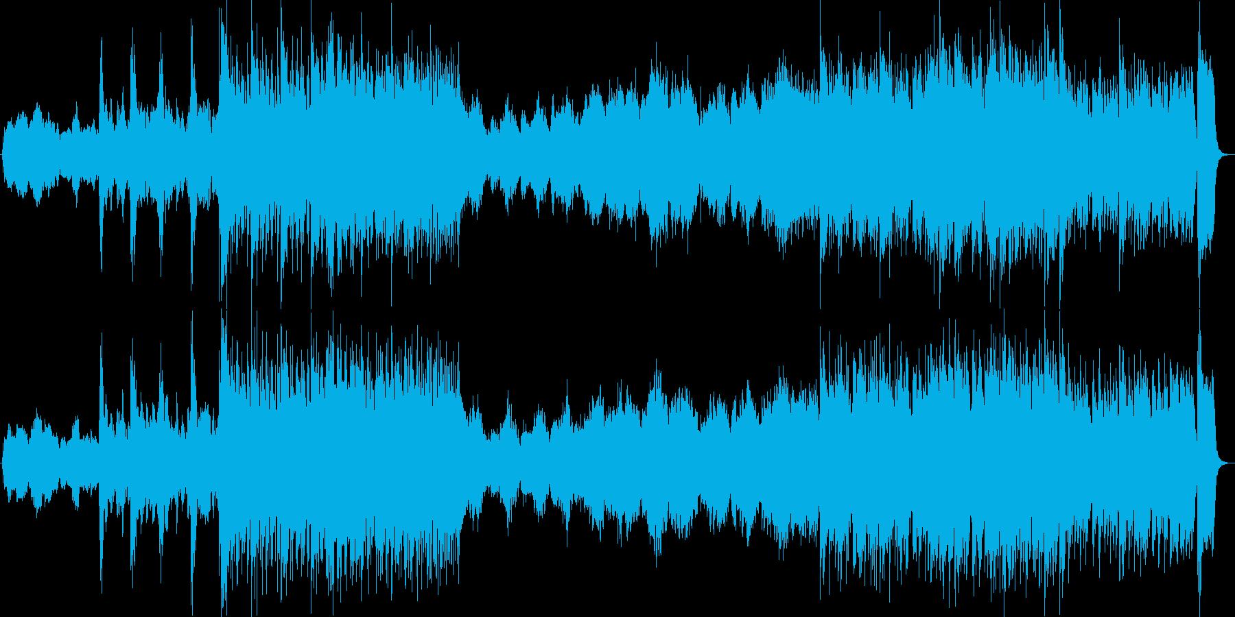 和太鼓と尺八の入ったオーケストラの再生済みの波形