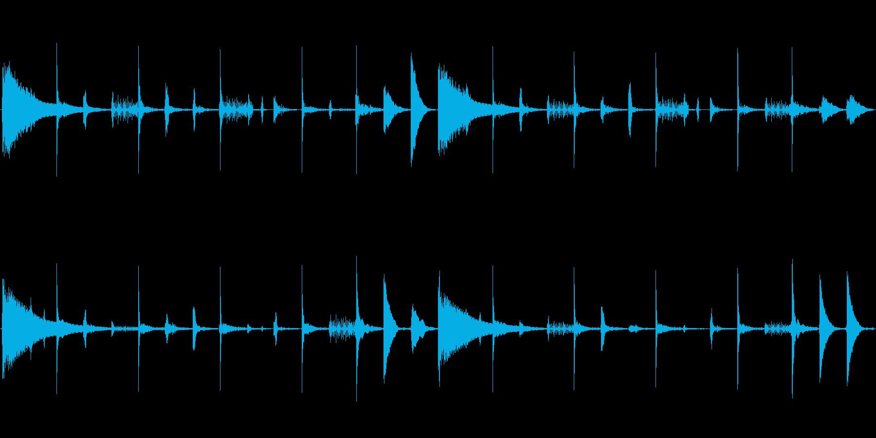 レトロなリズムボックスサウンド。リバー…の再生済みの波形