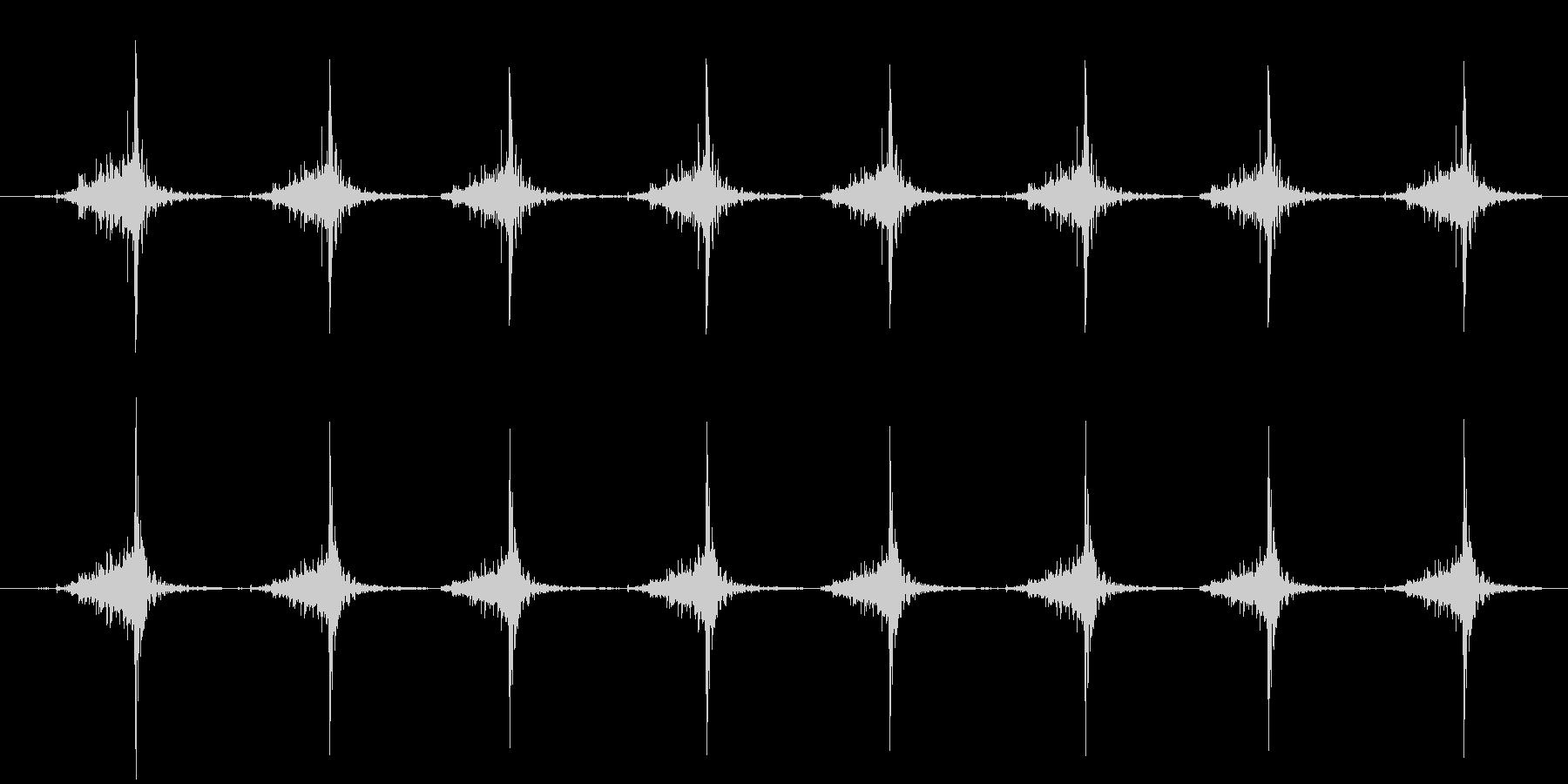 包丁で切る(高速)の未再生の波形