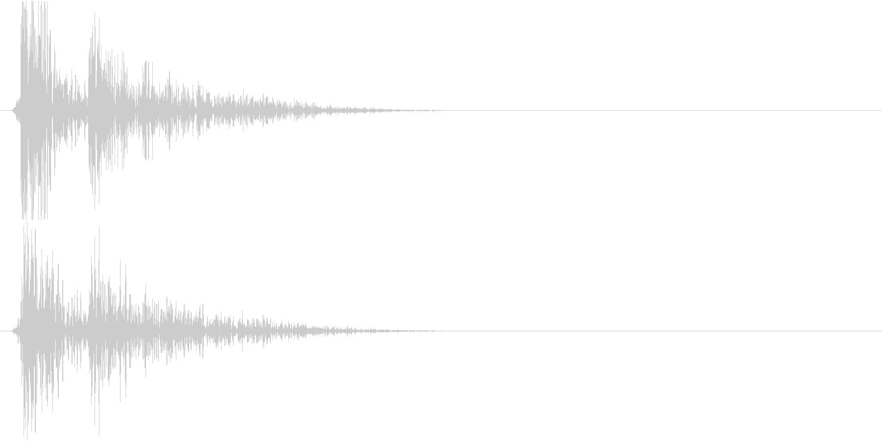コンコンコーン…(物を落とした時の音)の未再生の波形