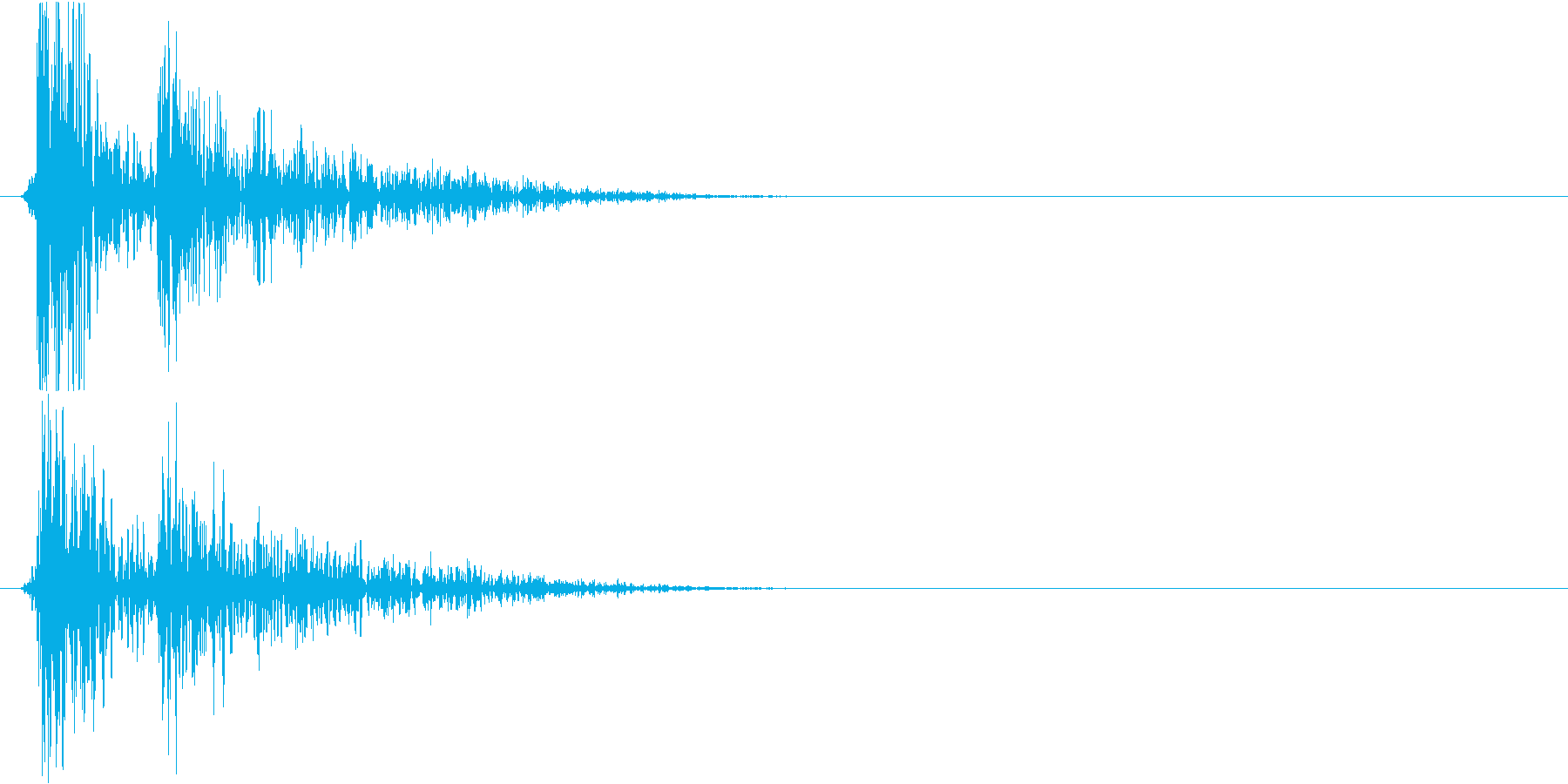コンコンコーン…(物を落とした時の音)の再生済みの波形