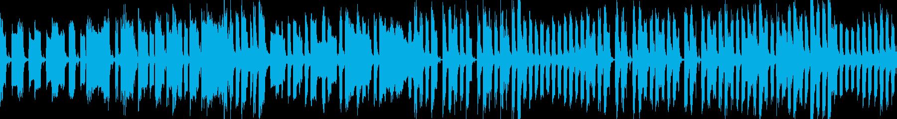 コミカルでどっしりとした曲の再生済みの波形