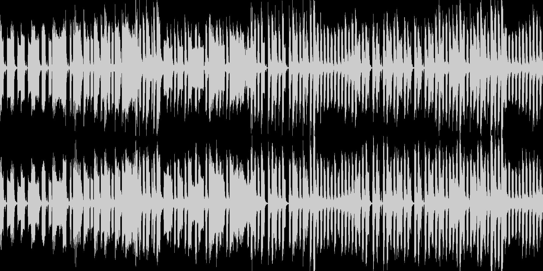 コミカルでどっしりとした曲の未再生の波形
