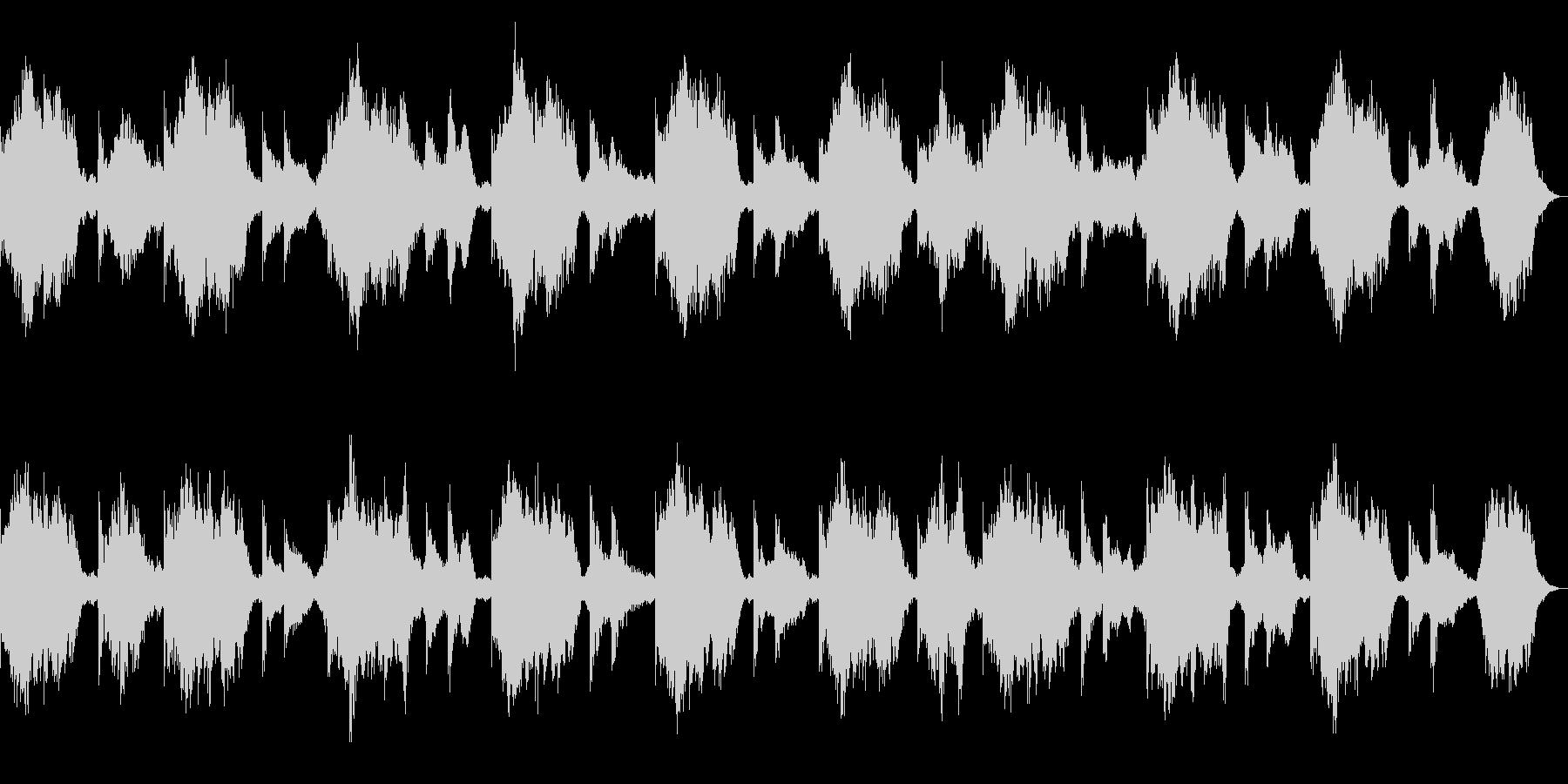 ダークでミステリアスなピアノ 奇怪な演出の未再生の波形