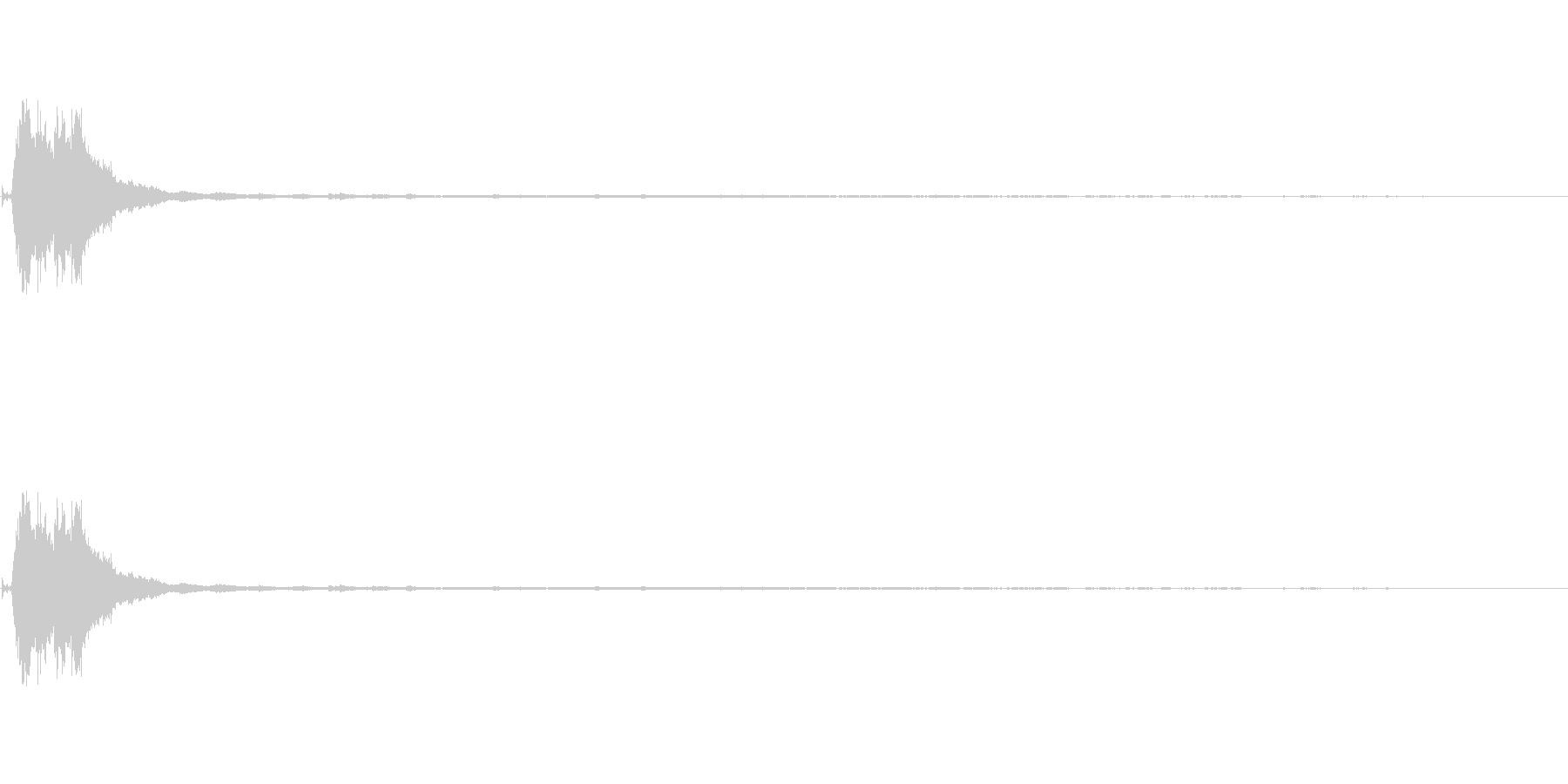 キラリーン ウィンドチャイム 効果音の未再生の波形