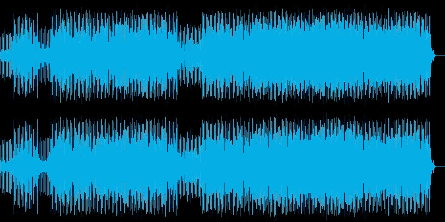 機械的な冷たさが支配する無機質なテクノの再生済みの波形