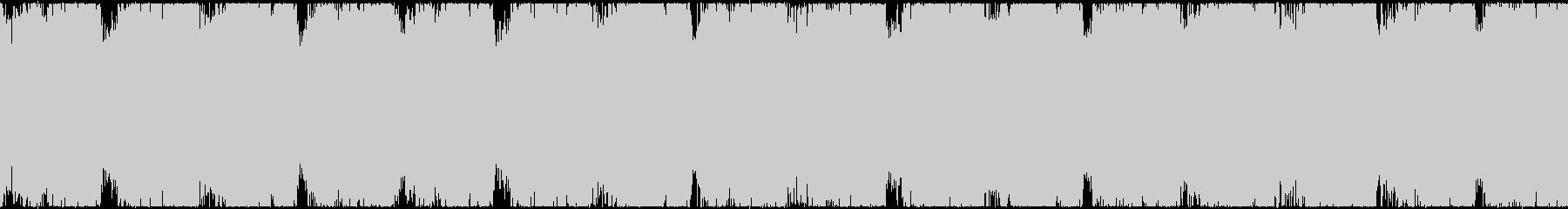 疾走感のあるロックテイストなループBGMの未再生の波形