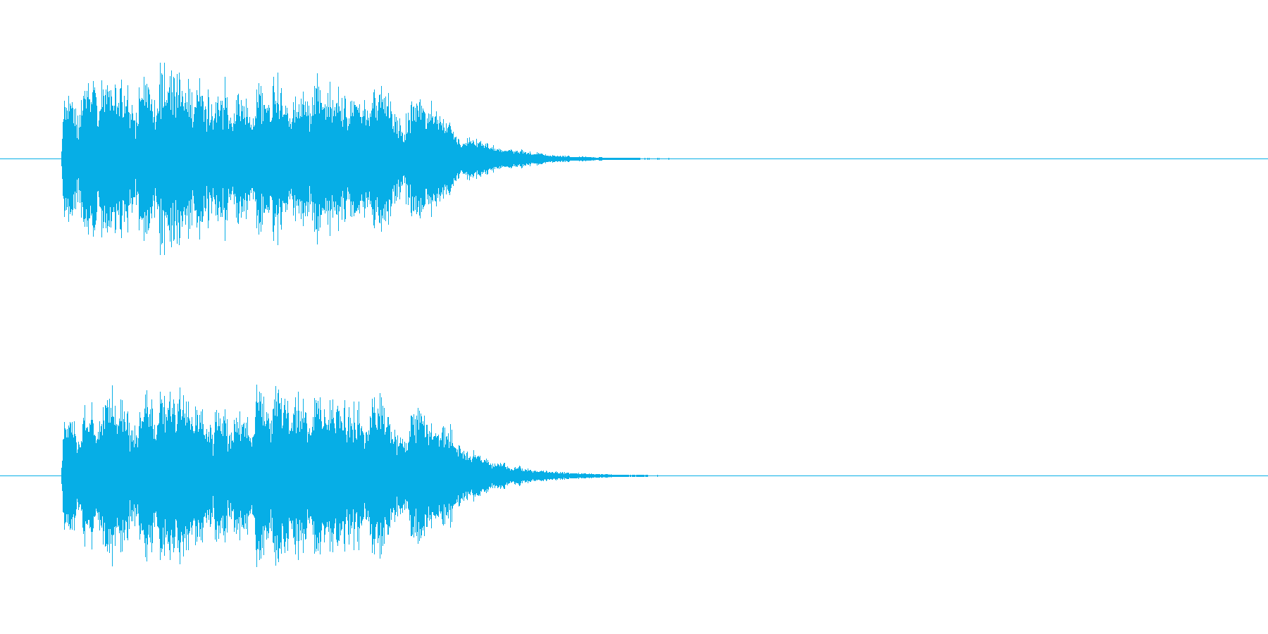 ジングル(不思議イメージ)の再生済みの波形