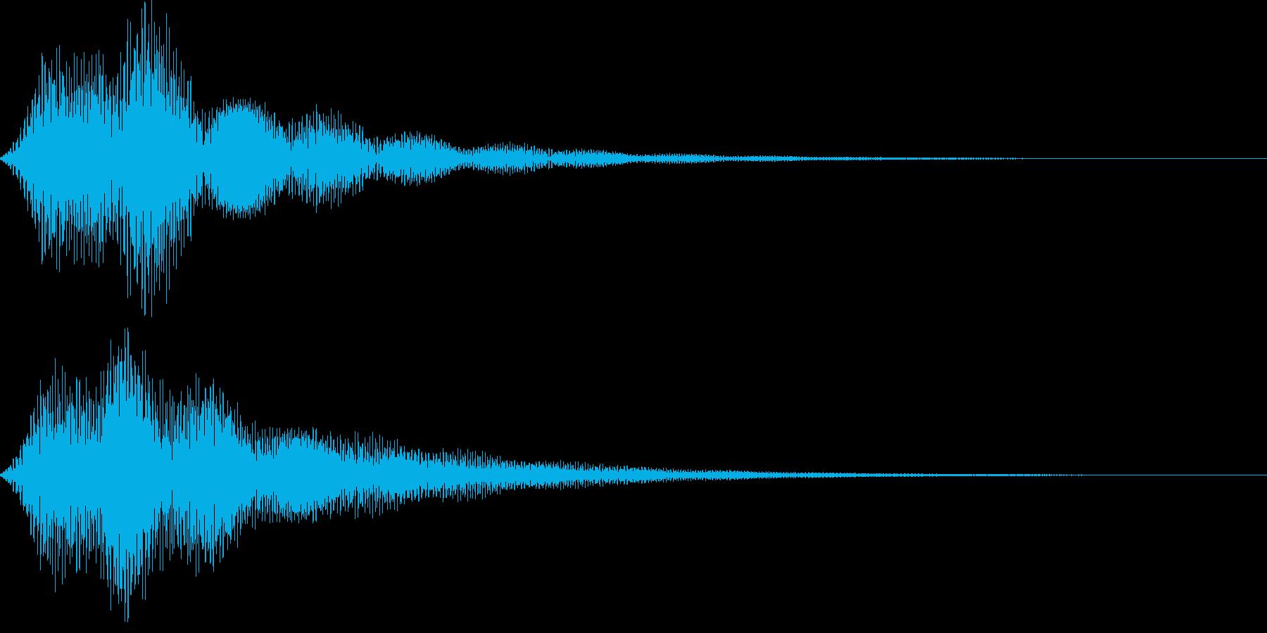 ボタン・操作音7の再生済みの波形
