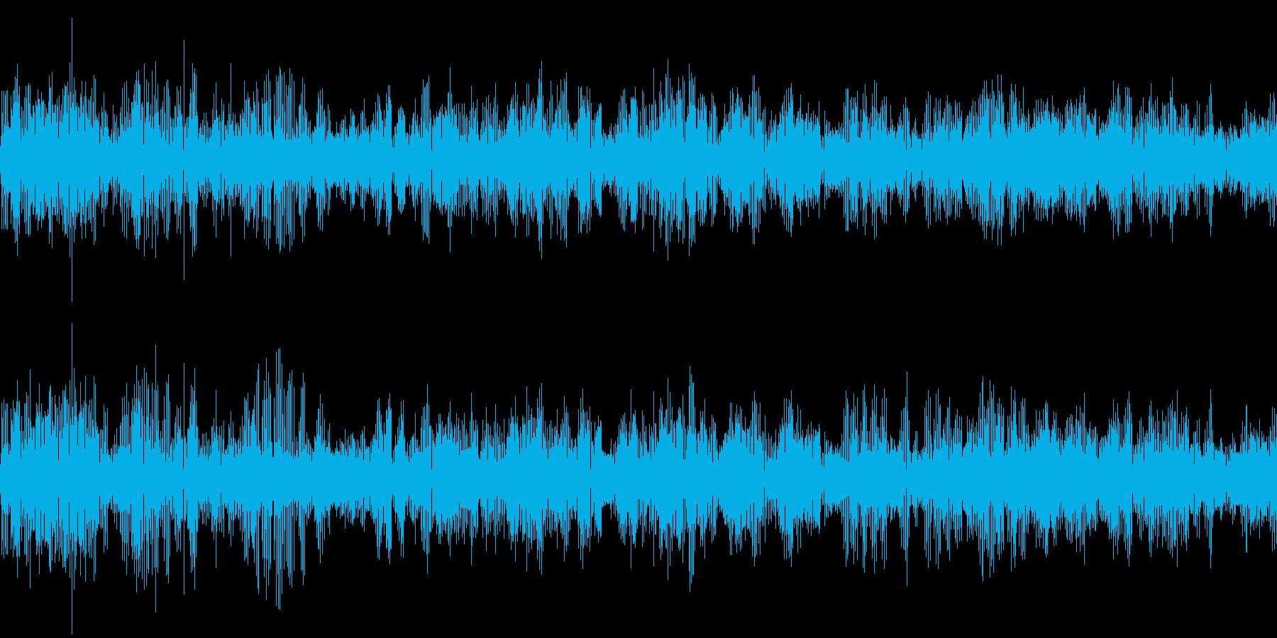 カエルの大合唱(環境音)の再生済みの波形