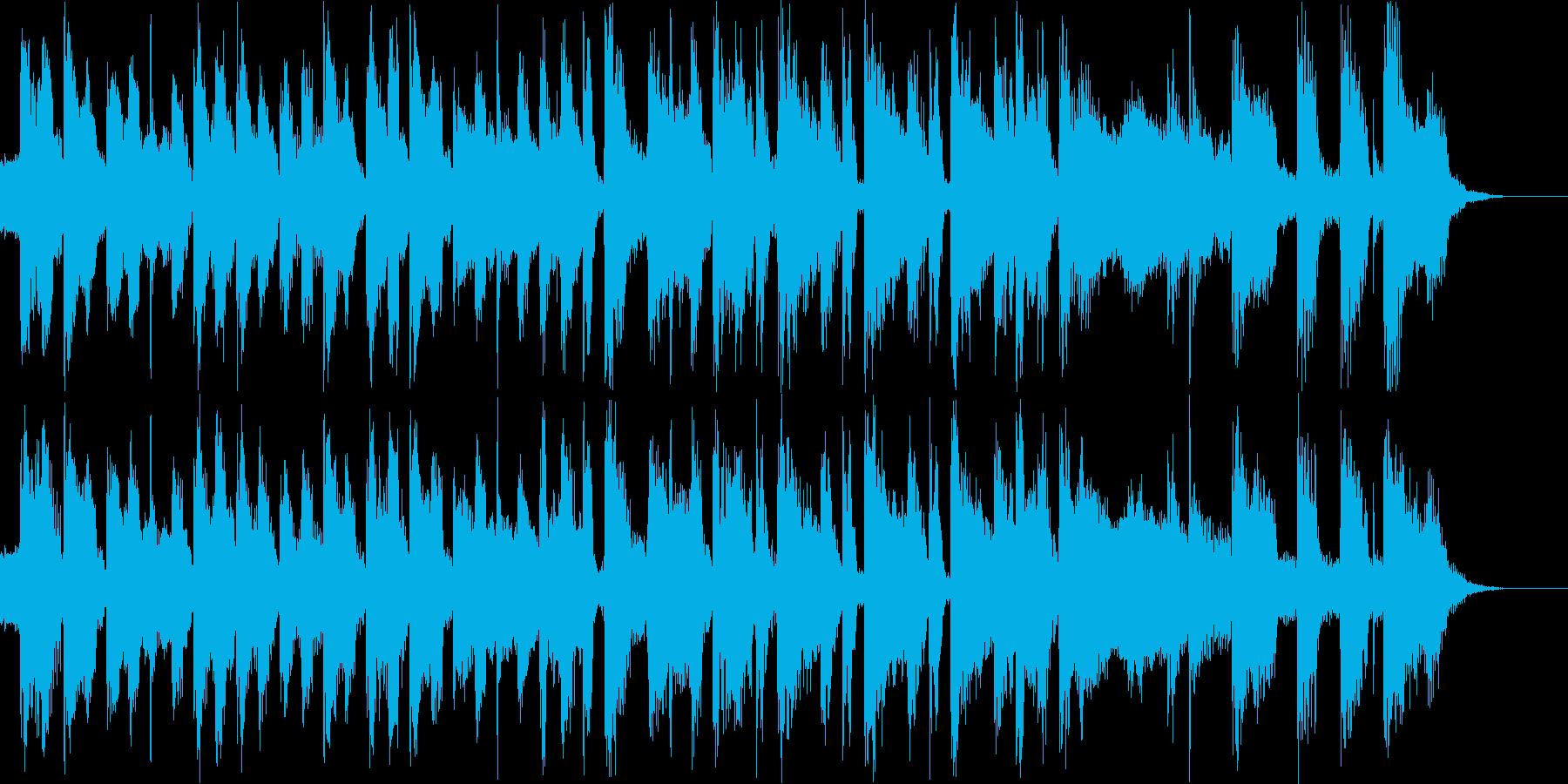 テクノで雰囲気があるBGMの再生済みの波形