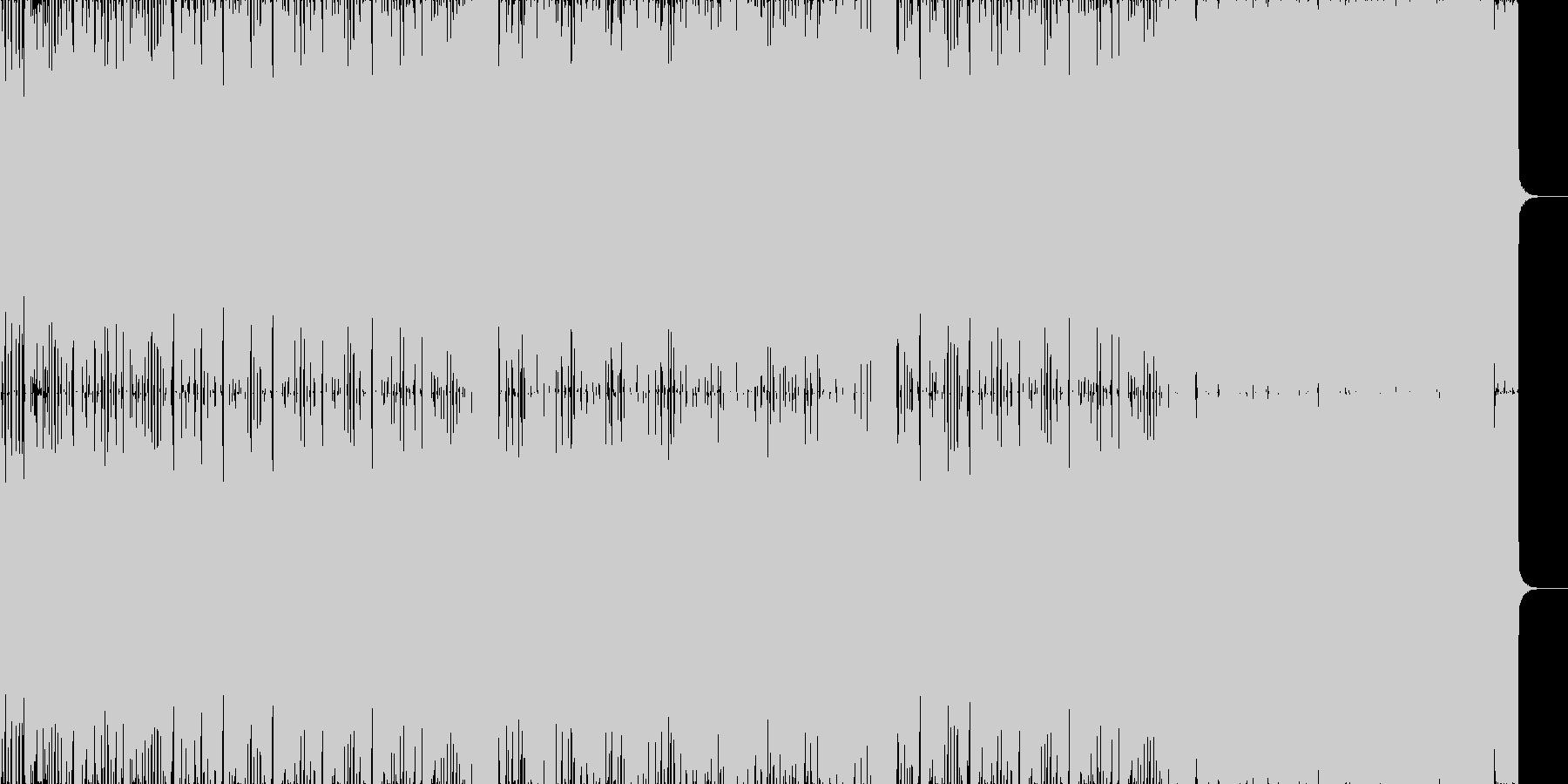 ユーロなハウスミュージックの未再生の波形