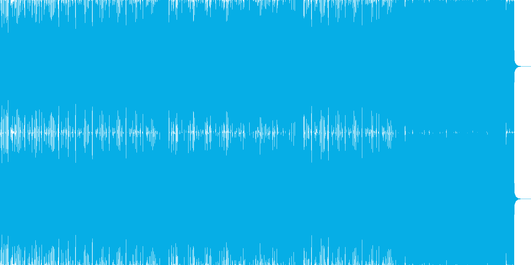 ユーロなハウスミュージックの再生済みの波形