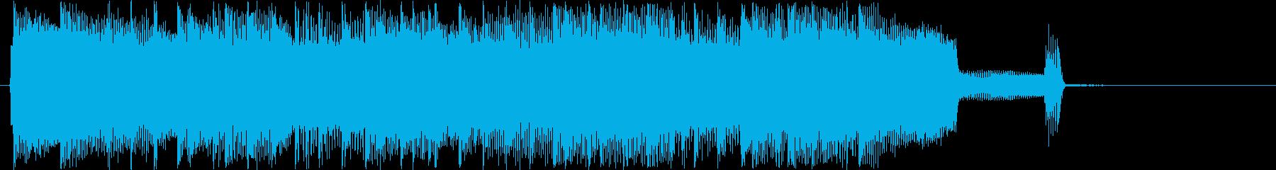 バンド演奏終盤のジングルの再生済みの波形