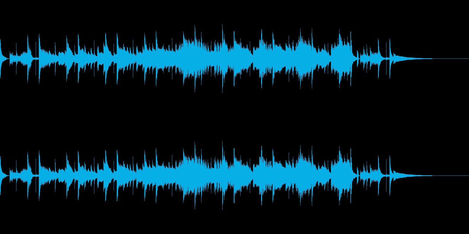 不気味なホラー系の再生済みの波形