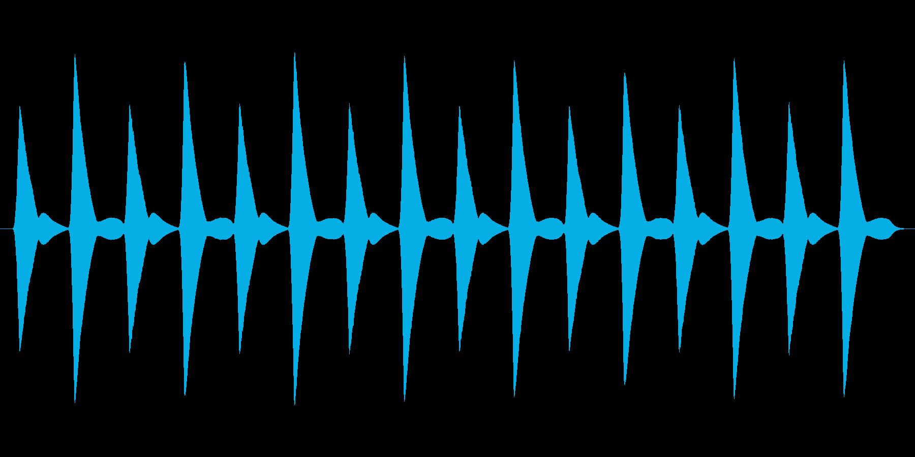 【ピヨった音】ぴよぴよぴよぴよの再生済みの波形