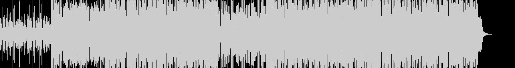 スピード感あるおしゃれなハウス系BGMの未再生の波形