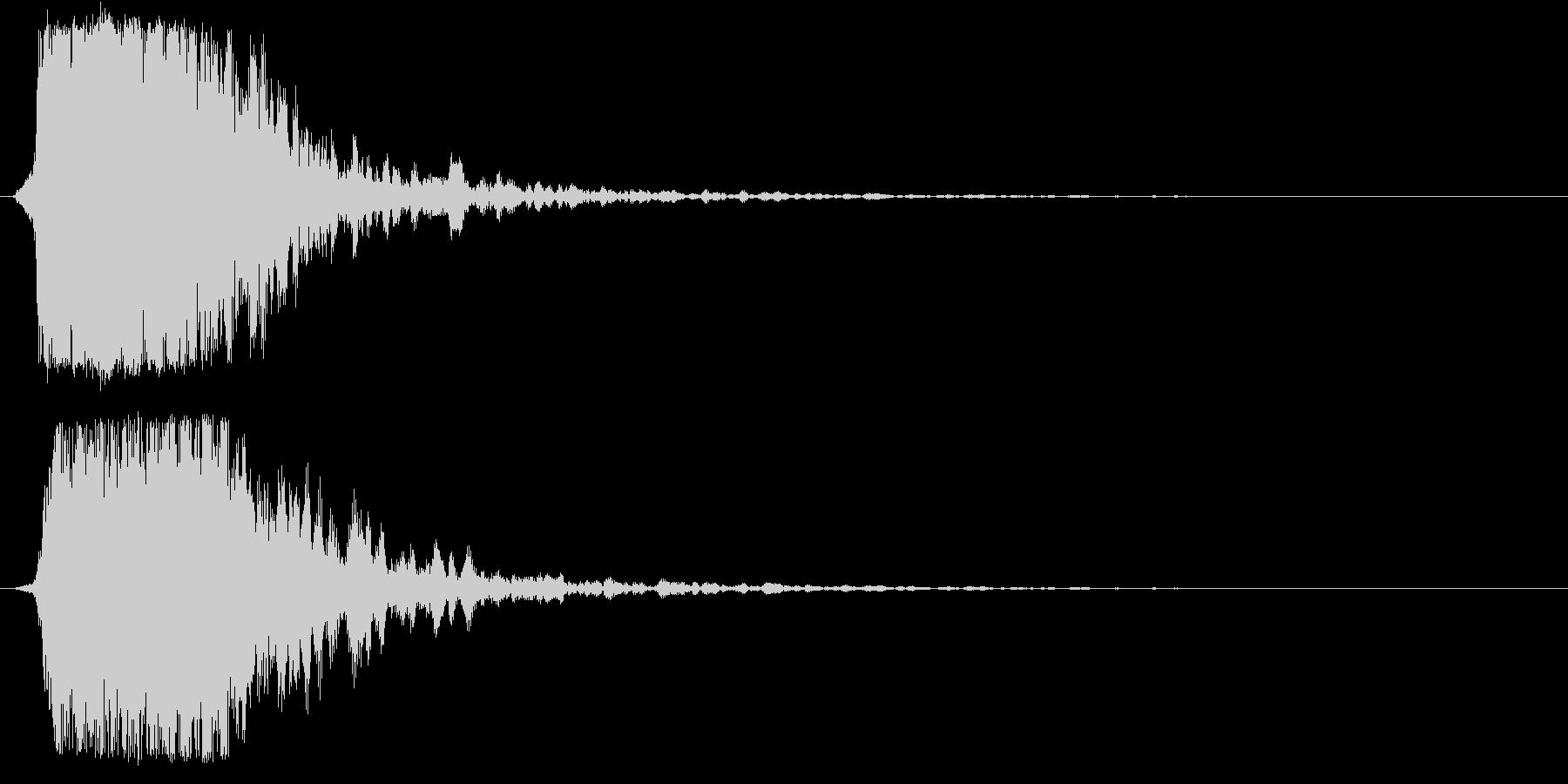 シャキーン!ド派手なインパクト効果音1Bの未再生の波形