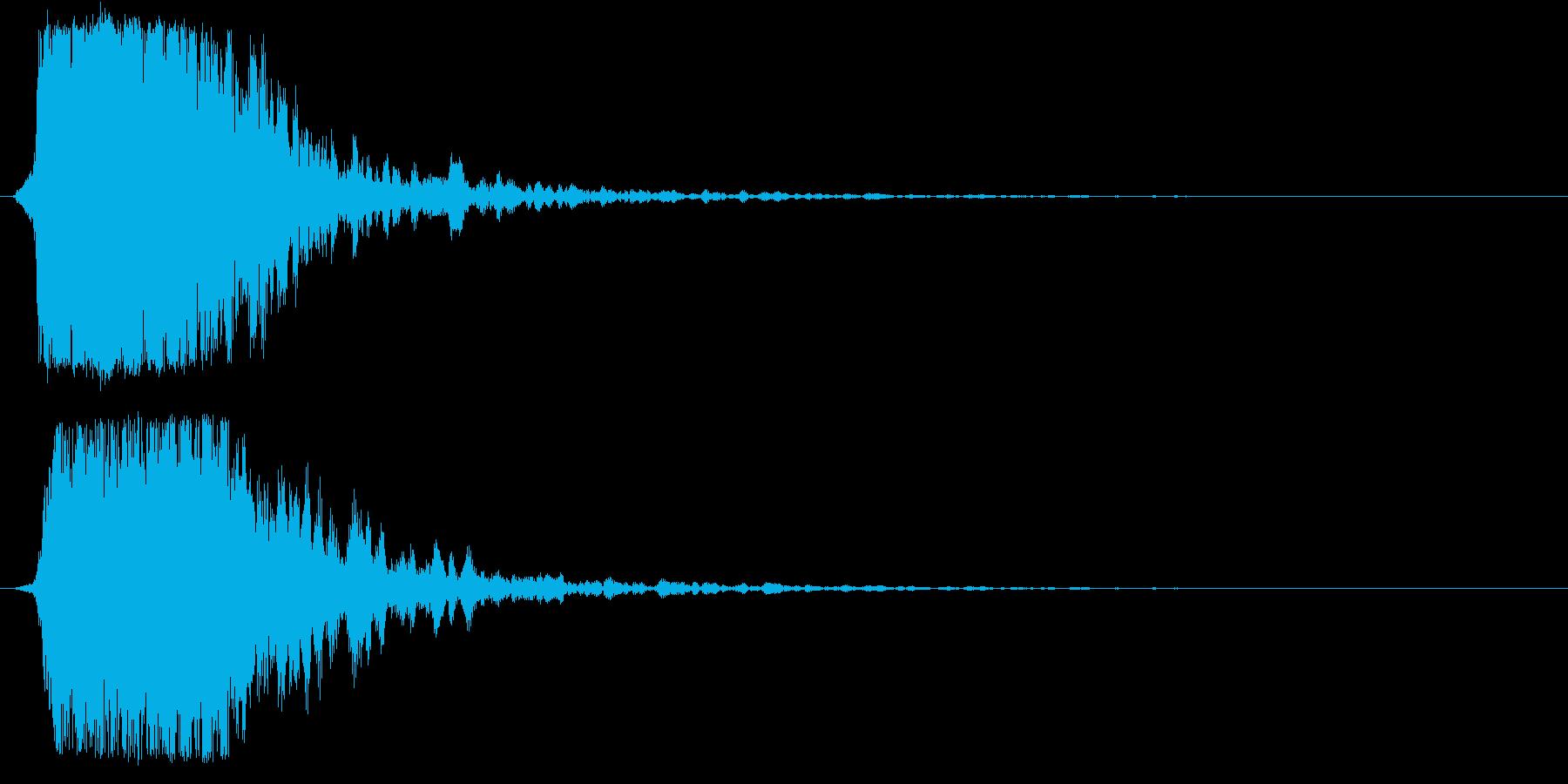 シャキーン!ド派手なインパクト効果音1Bの再生済みの波形