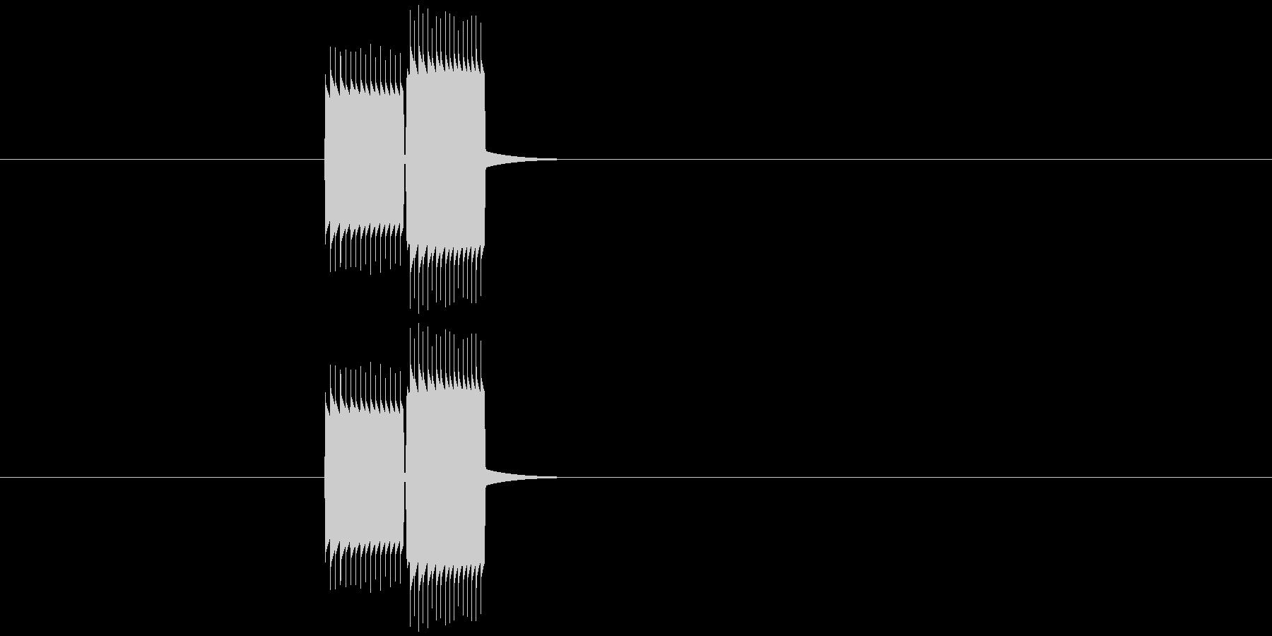 チープなゲームのプッシュ音の未再生の波形