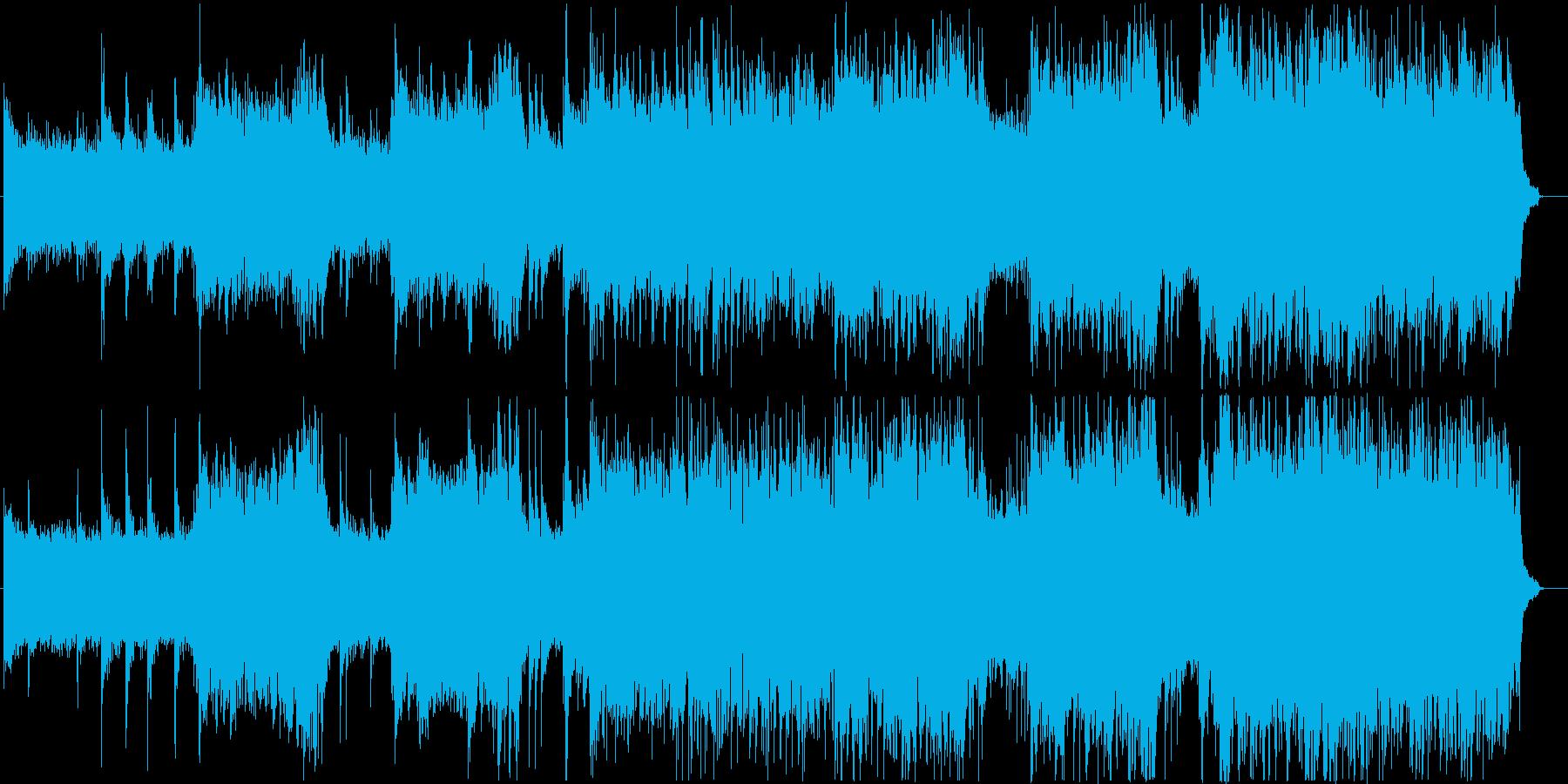 荘厳だけど明るいシンセサウンドの再生済みの波形