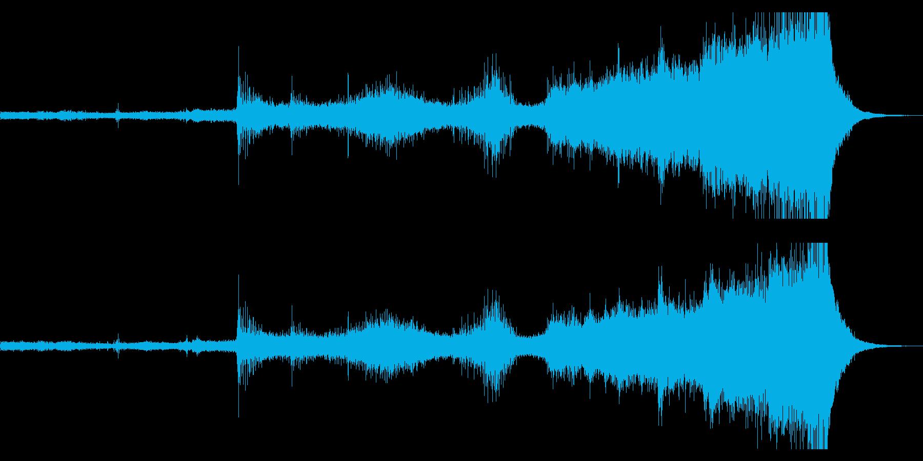 不吉な予兆を駆り立たせるエスニック風音楽の再生済みの波形