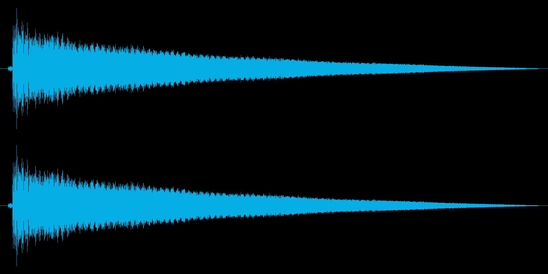 除夜の鐘の再生済みの波形