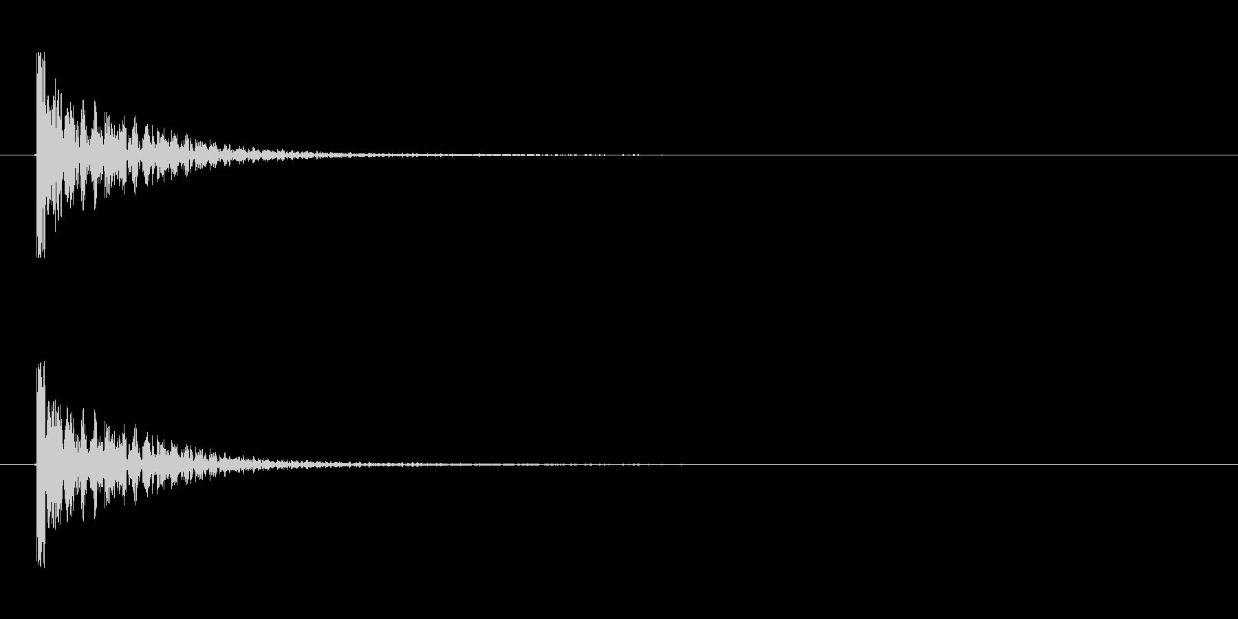 【衝撃03-1】の未再生の波形