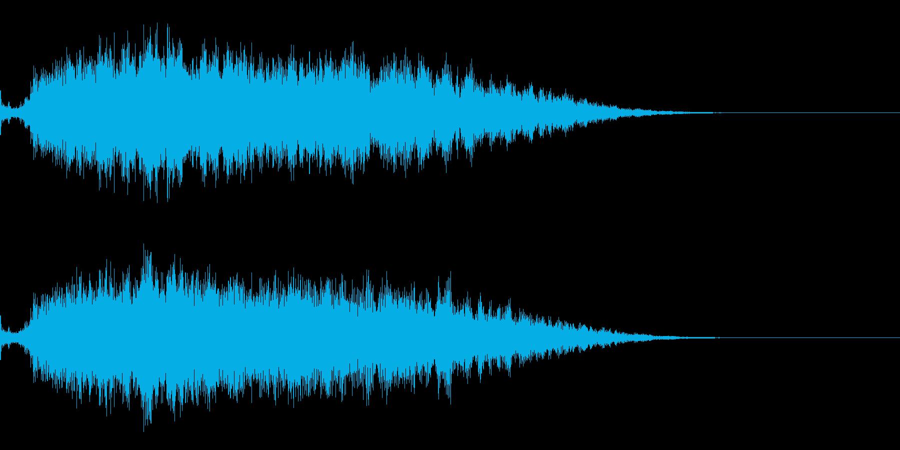 ピアノを加工したサウンドロゴの再生済みの波形
