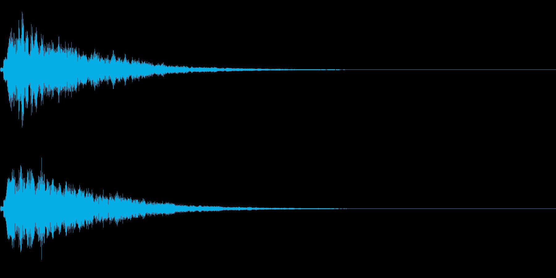 ピコーン(ゲーム、アプリ、決定音)の再生済みの波形