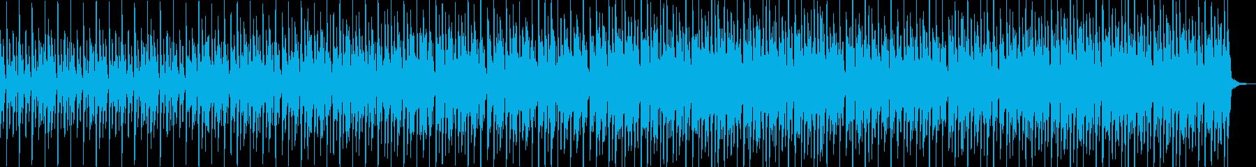 柔らかいシンセハウスの再生済みの波形