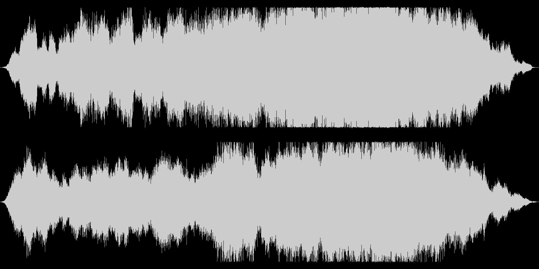 恐怖感のあるホラーBGMの未再生の波形