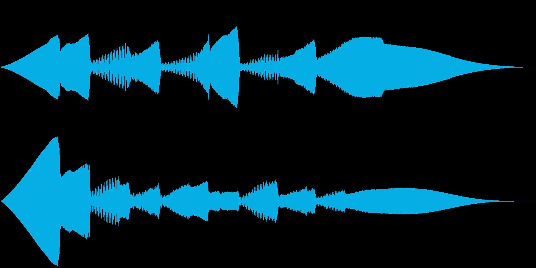 5秒CM用、ほのぼの家族verBの再生済みの波形
