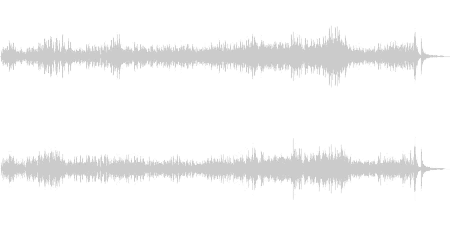 使用しやすいピアノ曲モチーフの未再生の波形