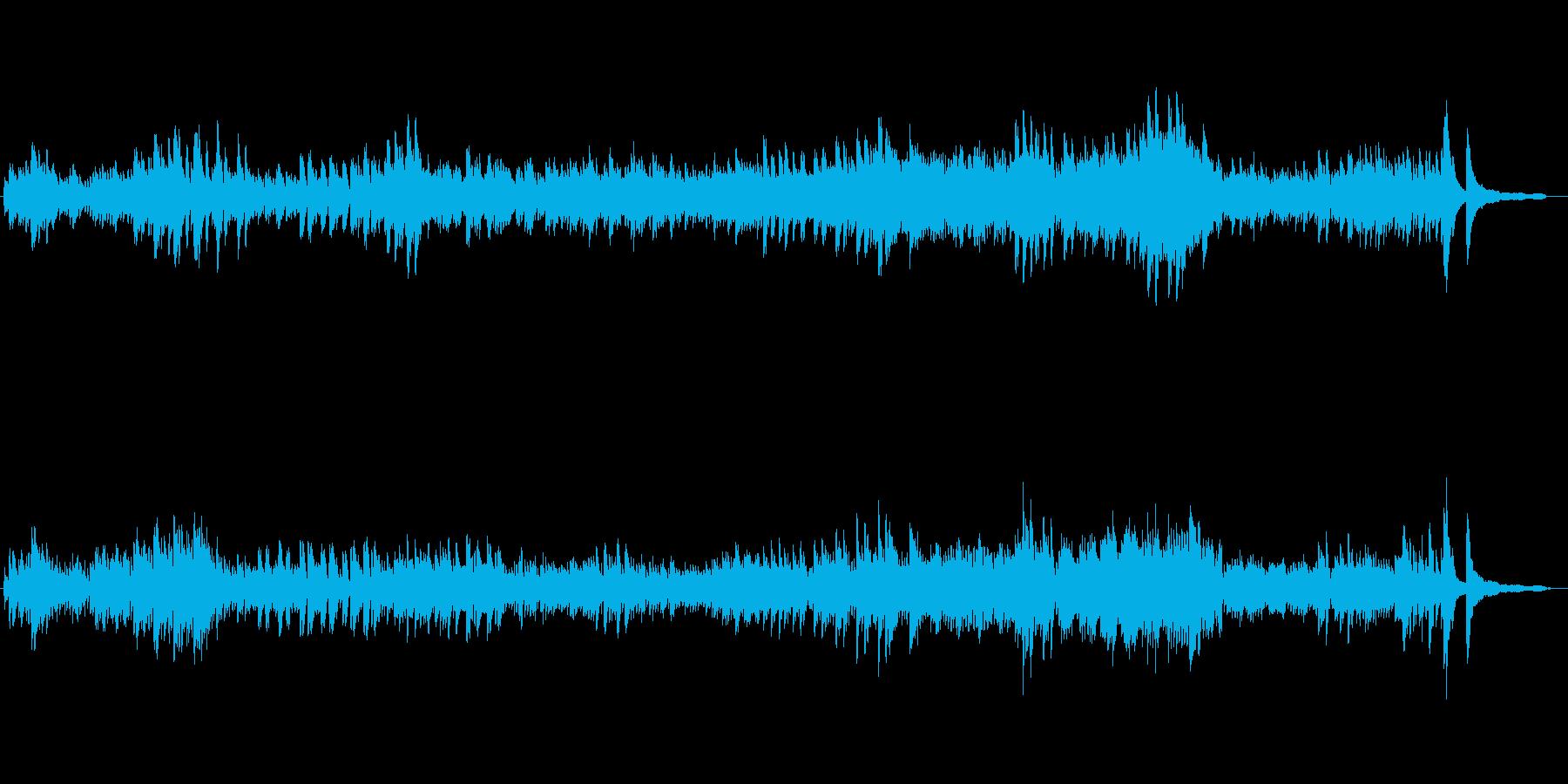 使用しやすいピアノ曲モチーフの再生済みの波形