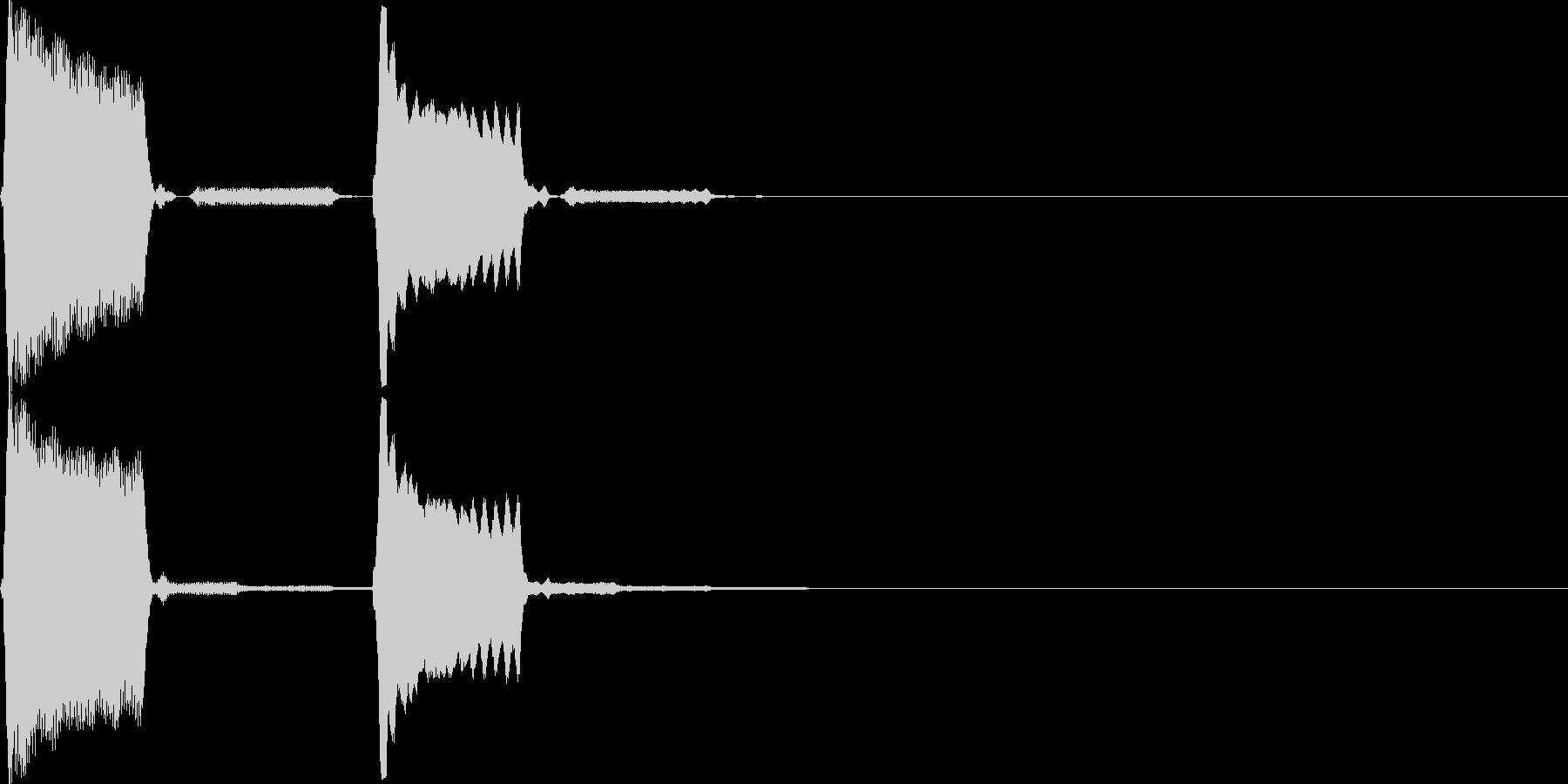 【SE】決定音05(ぺピッ)の未再生の波形