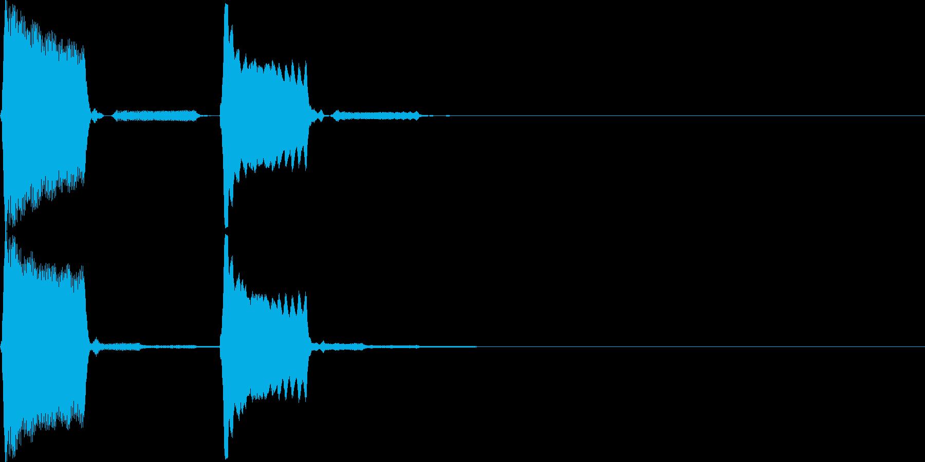 【SE】決定音05(ぺピッ)の再生済みの波形