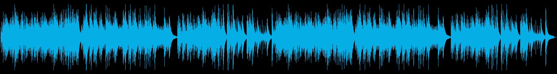優しいオルゴールの再生済みの波形