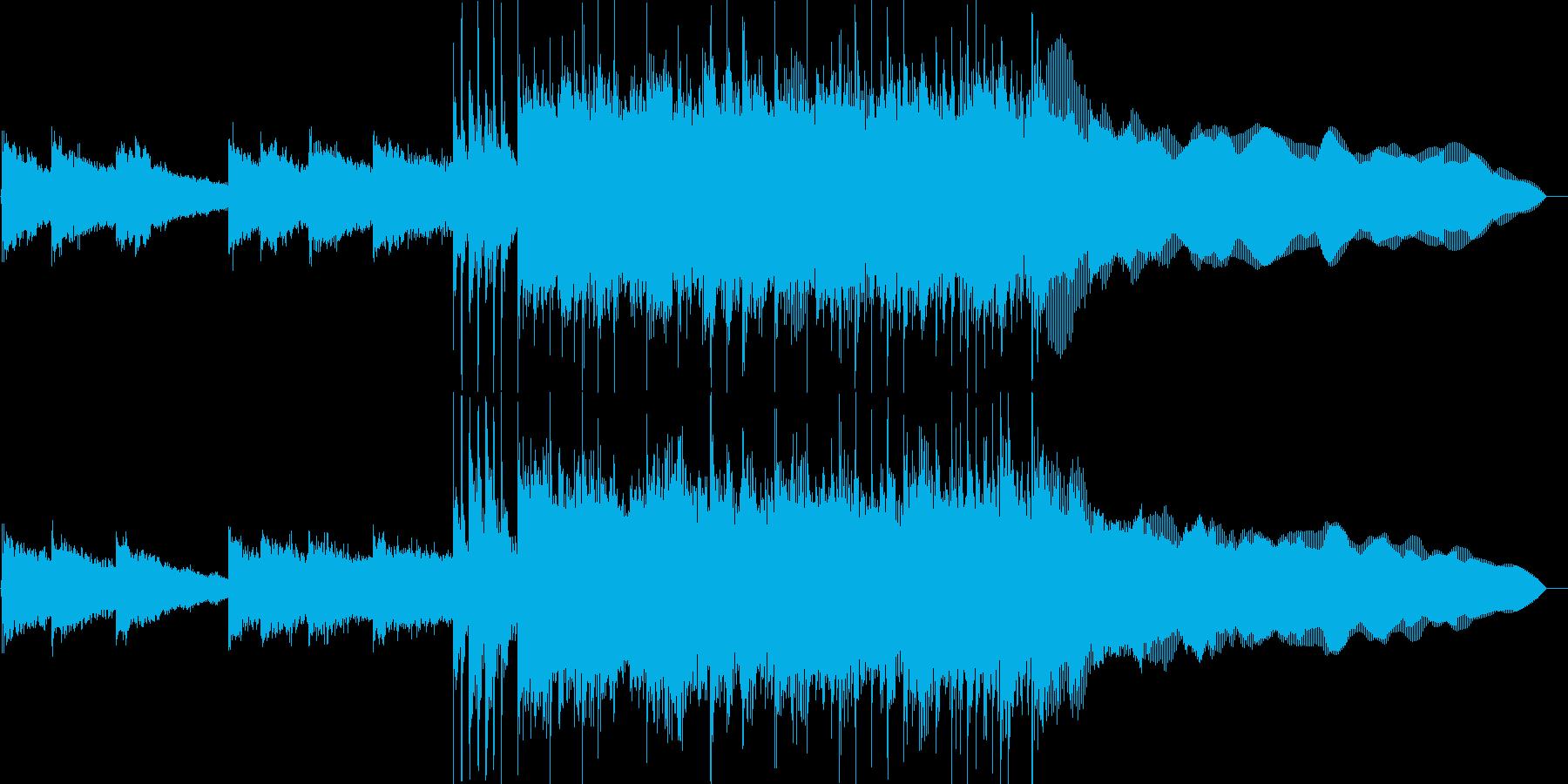 激しいロックのジングル(イントロ入り)の再生済みの波形