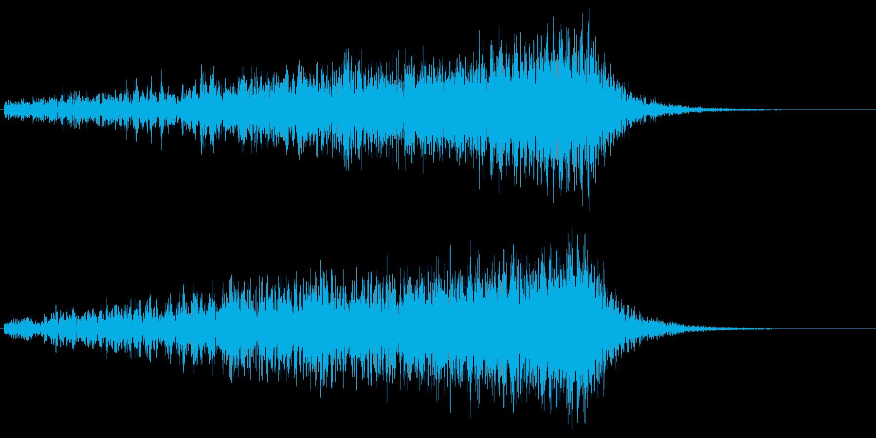 ヒュ~~~ン(ワープ音)の再生済みの波形