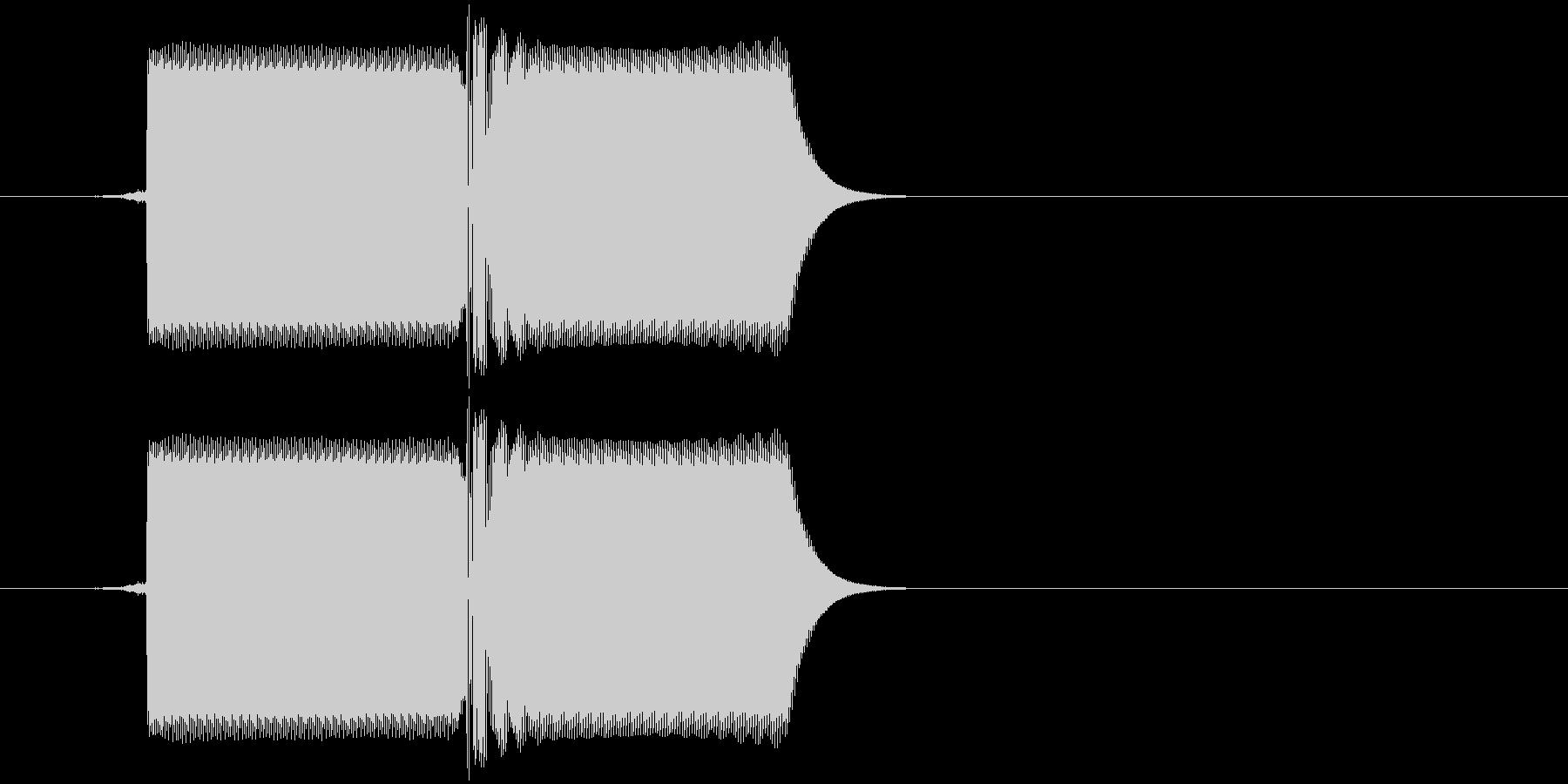 ファミコン風8bit レトロな選択音の未再生の波形