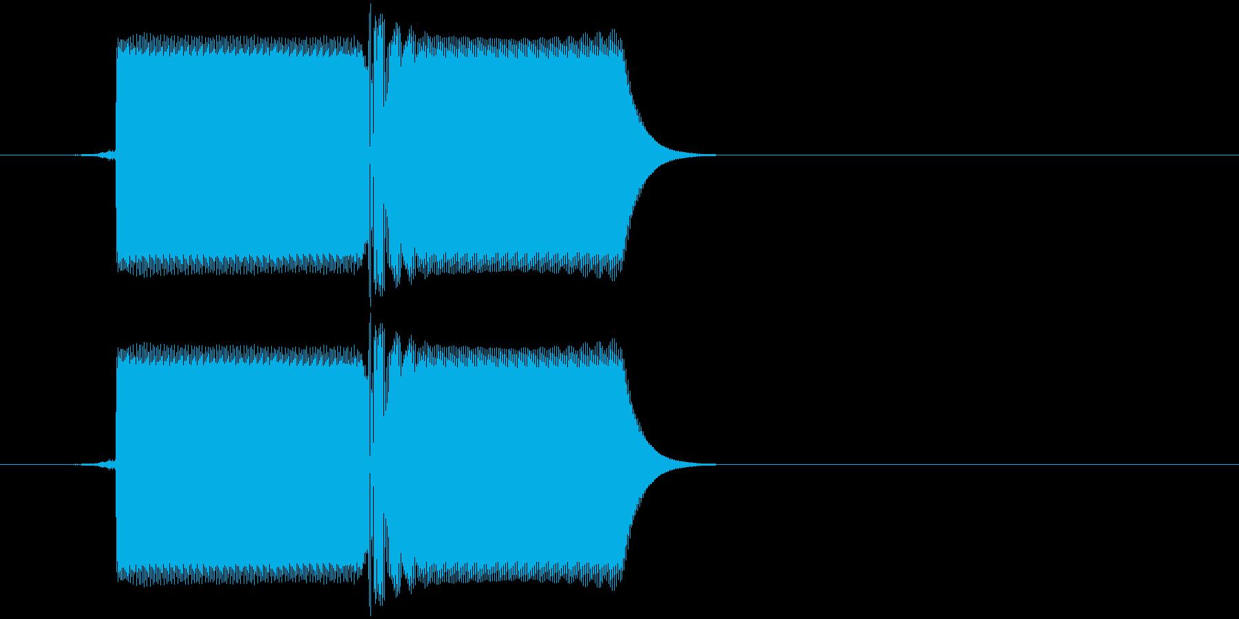 ファミコン風8bit レトロな選択音の再生済みの波形