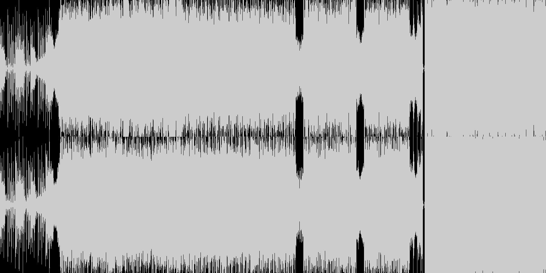 ループ仕様のデジタル系ロックの未再生の波形