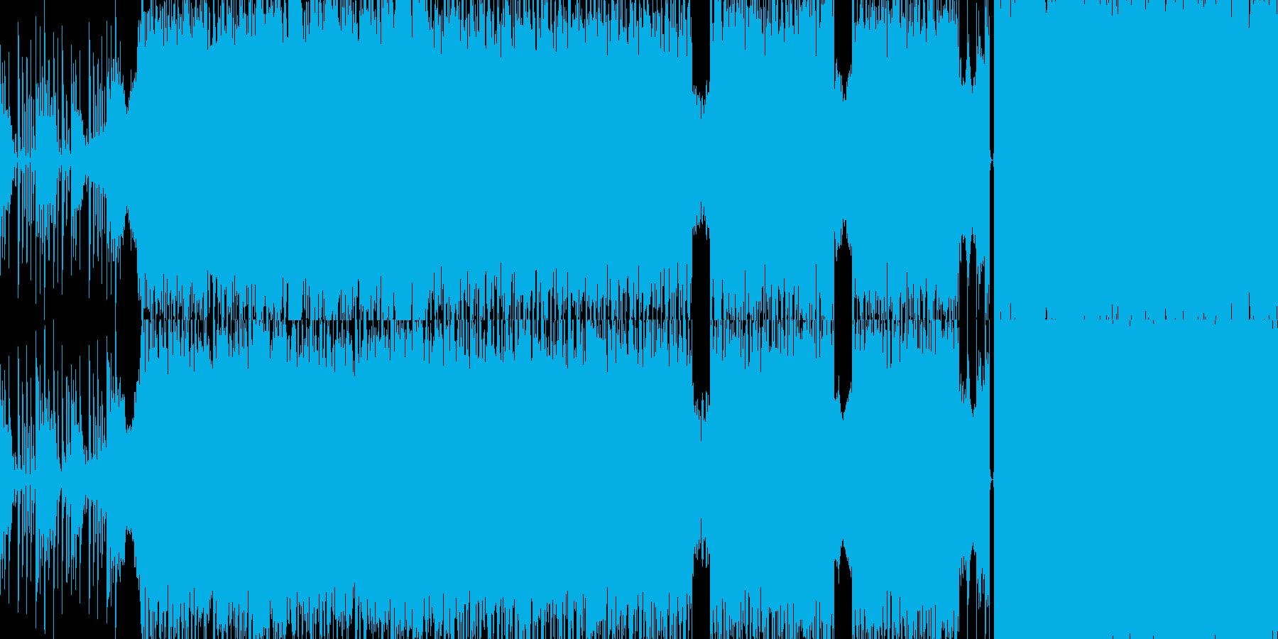 ループ仕様のデジタル系ロックの再生済みの波形