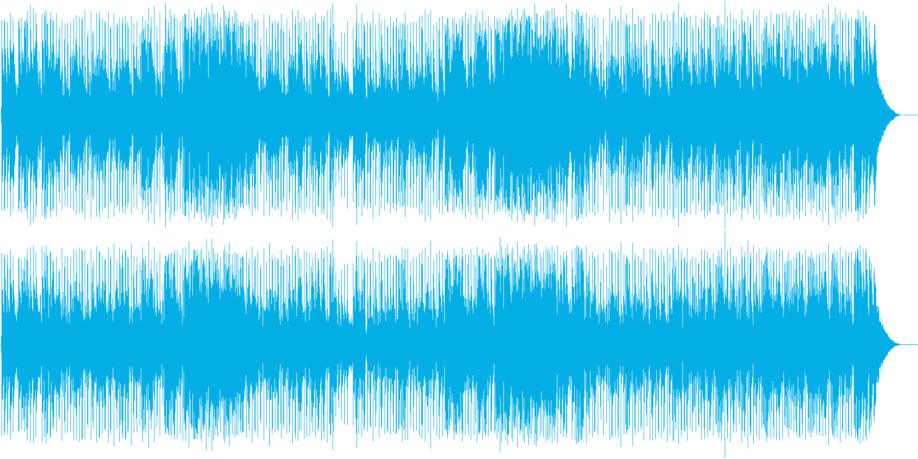 スタイリッシュにまとめたポップスの再生済みの波形